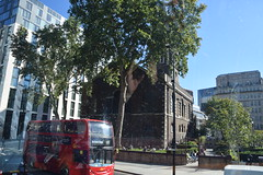 DSC_0863 City of London Bus Route #205 Saint Botolph Without Aldgate parish church with spire consecrated in 1739 (photographer695) Tags: london bus route 205 city saint botolph without aldgate parish church with spire consecrated 1739