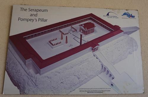 The Great Temple of God Serapeum, Alexandria, Egypt.