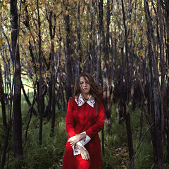 numb (Maria Nenenko) Tags: idea concept conceptual marinino marininoart fineart art mood style best 2018 surgut russia forest woods reddress longhair nature autumn melancholy film cinematic model woman girl face movement hands triptych beauty beautiful