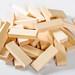 Wood blocks game, Jenga on white background