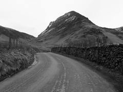 The Road to the Hills (RS400) Tags: cool wow travel black white lake district roa raod hill olympus photography cumbria snow 2018 dull art landscape