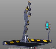 LaunchArmBase_05 (kyewans) Tags: macross himetalr display base launch arm 3d print