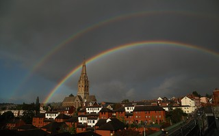 Double rainbow over Exeter