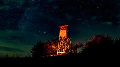Hunter Standing at Night (ReppiX) Tags: night dark dunkelheit stars sterne nachthimmel nacht