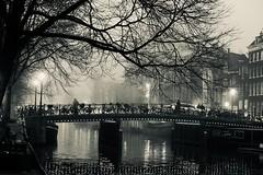 bridge on a foggy day (claudia 222) Tags: amsterdam bridge fog bw gracht winter