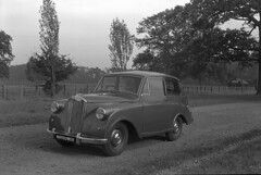 Triumph Mayflower (British Motor Industry Heritage Trust Archive) Tags: bmiht britishmotormuseum vintage archive history socialhistory warwickshire midlands westmidlands triumph mayflower stoneleigh social