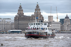 Crossing the Divide (alundisleyimages@gmail.com) Tags: ferry rivermersey liverpoolwaterfront city water weather clocks boat shipping passengers liverbirds royalliverbuilding cunardbuilding portofliverpoolbuildingapproaching spray clouds autumn architecture riverbanks tourism cranes