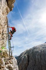 Via Ferrata Pisciadu (Bergfex_Tirol) Tags: dolomiten fels cliff herausforderung dolomites dolomiti tyrol klettern adventure felswand klettersteig bergsport bergfex pisciadù climbing mountaineering challenge rock italy sport outdoor italia abenteuer natur italien sports alps alpen südtirol corvara kolfuschg fixedroperoute viaferrata badia