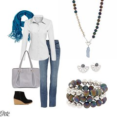 Heading into the weekend, keep your style irresistible -- even with blue jeans! New for Fall - Fifth Avenue Collection's 3 Looks in 1 Rhodium, Swarovski Crystal Stud Earrings Fierce in Rhodium showcases a glimmering array of beautiful Swarovski crystal wi (LoveFifthAvenueCollection) Tags: lovefifthavenuecollection fifthavenuecollection fashion jewellery home based business