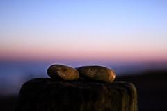 Pebbles in Love (jeffhob) Tags: pebbles beach worthing 50mm canon 1200d sunset evening tide breaker