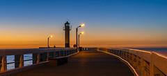 the angler at the lighthouse (Blende1.8) Tags: nieuwpoort pier northsea nordsee meer ocean see küste coast lighthouse leuchtturm evening sunset sundown bluehour blauestunde abend mood moody angler sony alpha ilce7m3 a7m3 a7iii sel24105g 24105mm emount belgien belgium belgique flandern flanders vlaanderen westvlaanderen