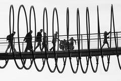 Slinky (petdek) Tags: monochrome blackandwhite bridge street