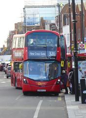 GAL WHV166 - BV66VLO - ELTHAM CHURCH - SAT 3RD NOV 2018 (Bexleybus) Tags: wrightbus gemini volvo goahead go ahead london eltham se9 high street tfl route 321 whv166 bv66vlo