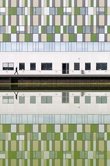Reflections (Eric Dufour Photographies) Tags: wall windows reflections building architecture graphics graphism geometry green shapes structure human water minimalism minimalist modern facade urban urbanities multicolors