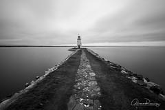 The way to the light (Al_Ram) Tags: lighthouse lakehefner lake canonshooter canon1635 canon5dmarkii faro bw blancoynegro blackandwhite longexposure landscapes