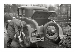 Vehicle Collection (9302) - Ford (Steve Given) Tags: familycar motorvehicle automobile ford 1930s maintenance tyrechange