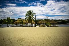 PLAYA (Nicolas171403) Tags: foto photoshop playa nikon 5300 dia nubes kiosco lago palma arena pez peces fotografia