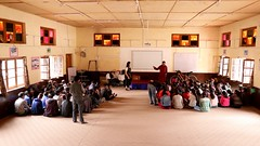 Presention to students at Khaltse Secondary College; the principal expands on my messages