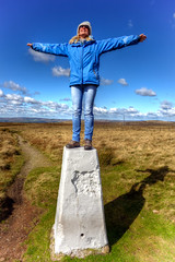 What a feeling..... (Missy Jussy) Tags: me justinestuttard missyjussy whatafeeling ontopoftheworld saddleworth 14000ft highpoint moors moorland sky clouds grass outdoor outside countryside photographer femalephotographer rochdale canon5dmarkll canon5d canoneos5dmarkii canon