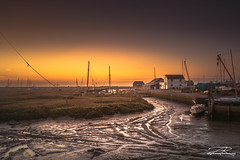 Tollesbury Marina (Aron Radford Photography) Tags: tollesbury marina essex maldon sunrise tide low salt marsh mud flat boat shed