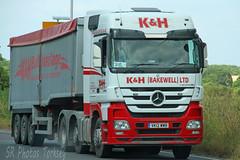 Mercedes Actros Tipper K&H (Bakewell) Ltd VK12 WWB (SR Photos Torksey) Tags: transport truck haulage hgv lorry lgv logistics road commercial vehicle freight traffic mercedes actros tipper kh bakewell