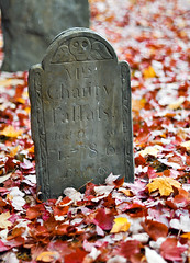 (Kylee Vincent Photography) Tags: newengland cemetery halloween fall autumn orange red yellow fallenleaves leaves leaf nikon d90 bokeh spooky grave headstone nikond90 kyleeuliano kyleevincent photography graveyard ghostly pretty gloomy gloom massachusetts ma foliage kylee uliano vincent photo cemeteries tombstone tomb skull buryingground history 1786 50mm f14 lancasterma lancastermassachusetts burialground death deceased