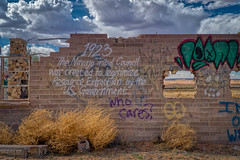 Navajo Council (CEBImagery.com) Tags: mural graffiti reservation navajo rural abandoned building urban blight message