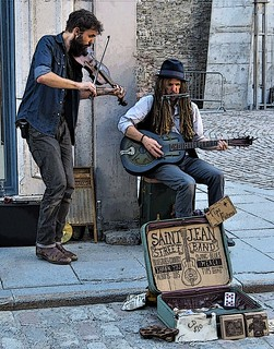 Music Buskers Quebec city  Poster edge