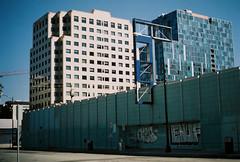 ENUF (jayplorin) Tags: san jose california canon ae1 film city urban buildings windows abandoned graffiti road street kodak gold 200 35mm