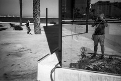 Selfie, kind of (magat129245) Tags: olympus xa2 kodak tmax100 200 ilfotechc tanger morocco september 2018 shootfilm shotfilm analog film filmcommunity filmnotdead filmshooters blackwhite blanconegro blancnoir blackandwhite shadow light contrast reflection selfie coast see sun 35mm
