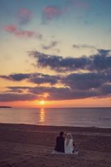 Sunrise - Alicante (Vest der ute) Tags: sea beach sunrise people sky clouds sand earlymorning fav25