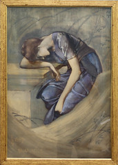Edward Burne-Jones - Study for The Garden Court 3 (ahisgett) Tags: birmingham preraphaelite museum art