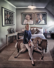 Three Queens And A Royal Flush (Mark L Edwards) Tags: portrait colour environmental room queen queens irony rocking horse light bed photograph queenemily
