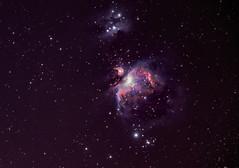 M42 & NGC 1977 (alexander_skaletz) Tags: night nebula summer astro astrophotography nature photography astronomy dark warm orion sky space nightskys detail m42 germany badenwürtemberg nikond5300 sigma stars summernight longexposure himmel