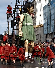 A repost of one of the giant puppets in Liverpool this weekend (Tony Worrall) Tags: liverpool merseyside scouse giants puppets liverpoolgiants giantpuppets event show up tall building large huge final buy sell sale bought stock item northern north west northwestern northwest english england fun strings candid people performance entertainment entertain pull lead street quirky nw french finalshow