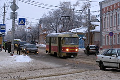 Трамвай Tatra T3SU (Aleksey Guskov) Tags: россия ульяновск ульяновскэлектротранс трамвай транспорт город зима russia ulyanovsk tram transport winter