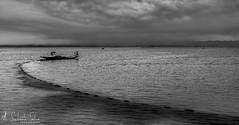 fishing (mailmesanu20111) Tags: wetland fishing boat monochrome blackandwhitephotography india cloud fishnet morning