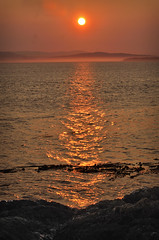 SUNSET OVER CANADA (Wolf Creek Carl) Tags: sanjuanisland limekilnpoint canada sunset orange red ocean water landscape washington outdoors nature