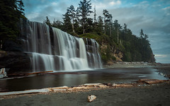 Tsusiat Falls (`James Wheeler) Tags: tsusiatfalls river adventure camping britishcolumbia vancouverisland wct hiking bc beach canada trees westcoasttrail explore campsite water waterfall nature outdoors landscape outdoor noperson travel rock lake park tourism