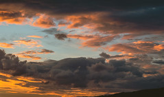 Grey and Fire 2 (bluishgreen12) Tags: sunset sky clouds organge grey sarajevo vintagelens vintageprime helios44m4