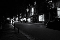 After dark (David Feuerhelm) Tags: night dark street lights starburst nikkor people buildings cambridge uk england nikon d750 2470mmf28 longexposure