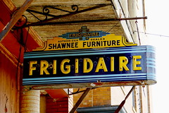 Frigidaire Neon Sign Shawnee Ohio (Eat With Your Eyez) Tags: neon porcelain vintage antique shawnee ohio furniture sign advertising old beautiful panasonic fz1000 roadtrip artkraft lima company