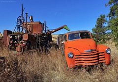 Thresher & Truck - Palouse - Washington State (Electric Crayon) Tags: abandoned truck chevy thresher rust decay pacificnorthwest washingtonstate whitmancounty usa unitedstates america rural palouse agriculture roadtrip electriccrayon patrickmcmanus