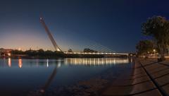 Alamillo y Guadalquivir... (protsalke) Tags: guadalquivir sevilla cityscape waterscape colors blue lights reflections reflejos colores ndfilter longexposure bridge puente andalucia nikon orilla