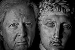 Theatre masks (Phancurio) Tags: doubleportrait monochrome shakespeare asyoulikeit theatre masks
