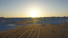Sunrise, the White Desert, Egypt.