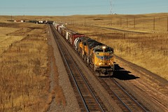 UP 8367 Rolling for Cheyenne (matthewspika) Tags: union pacific freight train wyoming overland route plains