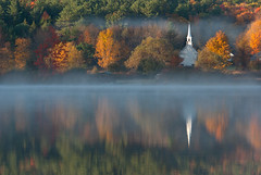 New Hampshire (US Department of State) Tags: little white church eaton new hampshire lake forest fog