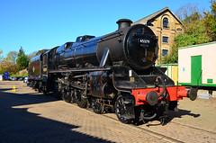 Black Five (davids pix) Tags: 45379 stanier black 5 five lmsr preserved steam locomotive alresford station midhants railway 2018 19102018