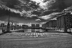 Salthouse Dock Liverpool (8mm & Other Stuff) Tags: albertdock monochromeliverpoolenglandwaterbuildinhgdmerseysideblack and white bw nikond60 nikon